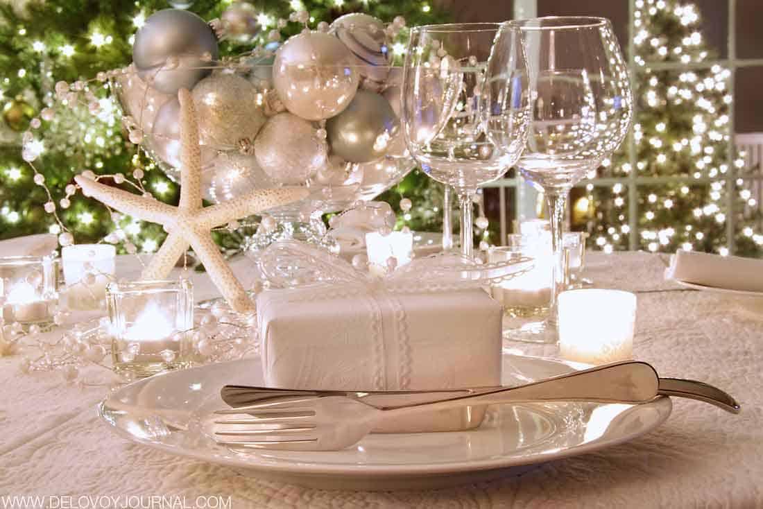 Украшение новогоднего стола без елки