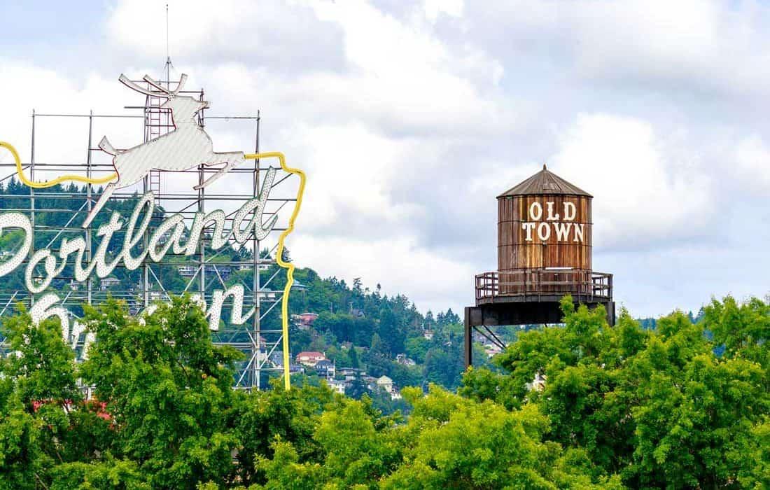 Портленд Орегон США - старый город
