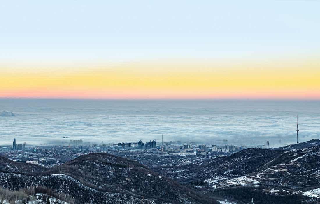Зимнее утро в Алма-Ате