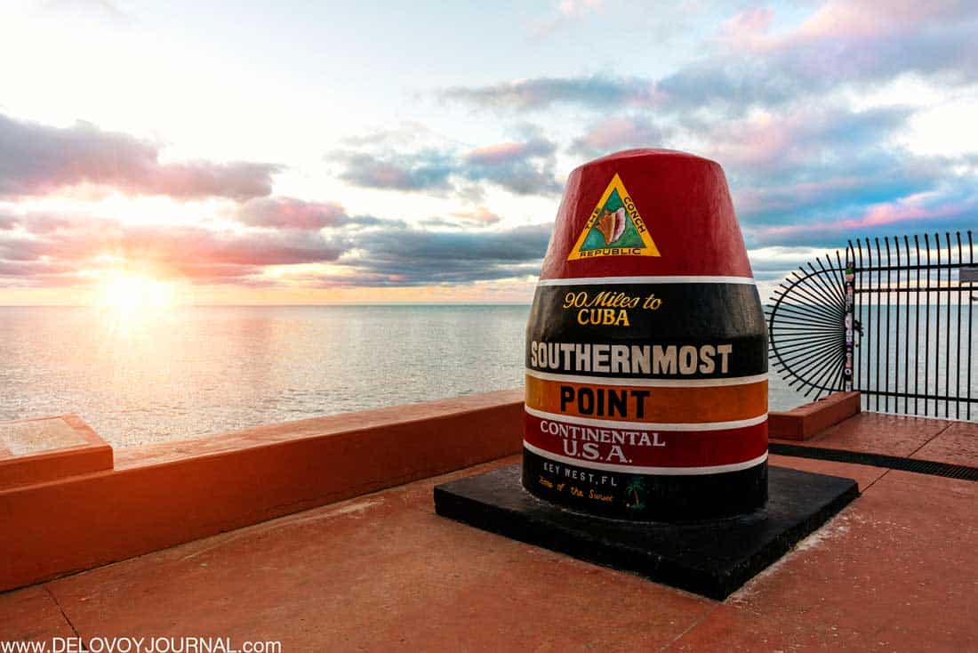 Самая южная точка континентальных США Ки-Уэст Флорида