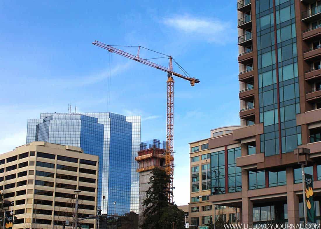 Строительство в даунтаун Белвью штат Вашингтон