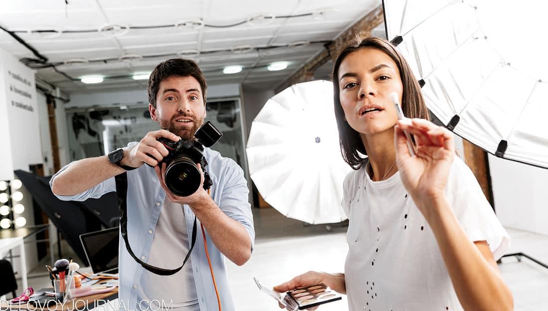 Фотограф и визажист
