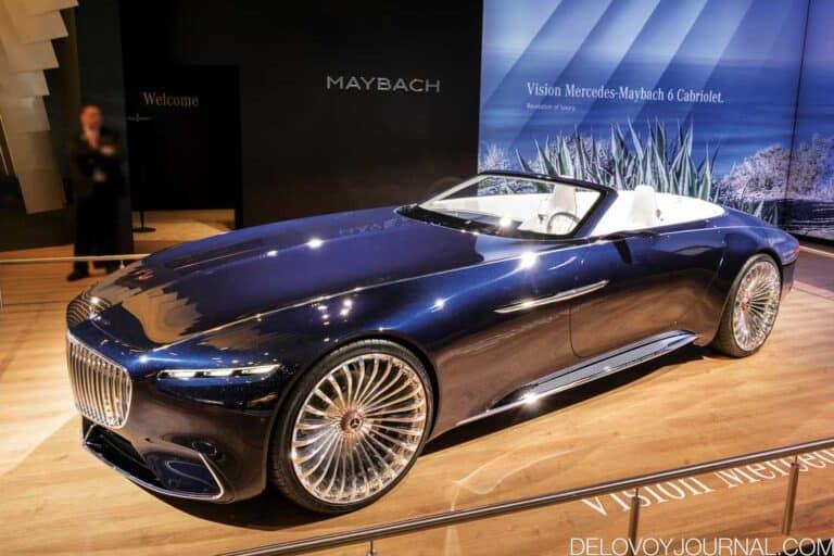 Роскошная яхта на колесах Vision Mercedes-Maybach 6 Cabriolet